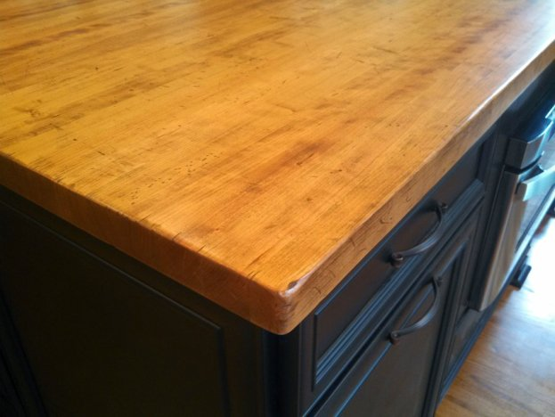 Cherry Distressed Edge Grain San Diego - The Countertop Company